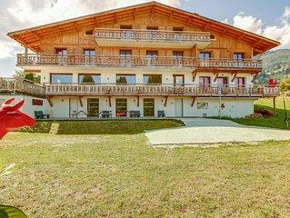 2 chambres pour 6 personnes dans magnifique chalet face au Mont-Blanc