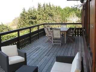 Chalet avec grande terrasse vue sur le Lac d'Evian