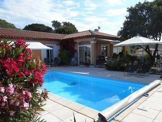 villa neuve tout confort 7 km de la plage  piscine privée