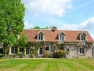 Gite de charme avec piscine - Vallee de la Loire, proche chateaux et zoo Beauval