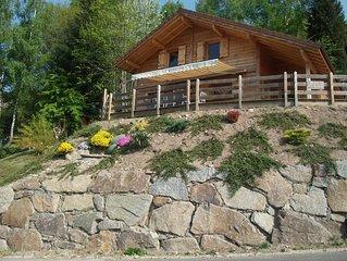 Chalet NEUF, VENTRON avec SAUNA, WIFI,terrasse 75 m2 plein SUD, Htes Vosges