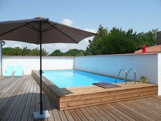 Maison centre de la tremblade avec piscine privée