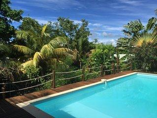 Grande villa 5 chambres climatisée avec piscine à 200 m de la plage