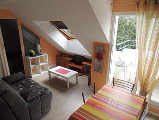 Joli appartement tres bien equipe 30m2 avec balcon et garage securise
