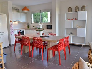 NEUF, bel appartement avec clim, 3mn de la mer, vue mer/etang/montagnes, 8 pers