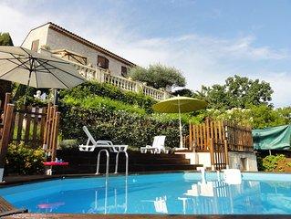 Villa avec piscine privee et jardin, a 5 km de la mer