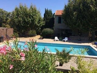 Mas provençal de charme, piscine, proche mer et village,  entre Toulon et Hyères