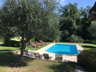 'Le Mas La Grange' maison de charme piscine chauffée proche du lac et de la mer