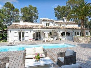 Villa à pied du Golf Club Cannes Mougins avec piscine chauffée