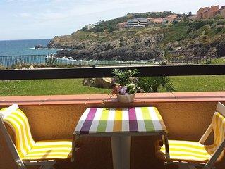 exceptionnel vue de la terrasse sur mer sans vis à vis ensoleillé et calme
