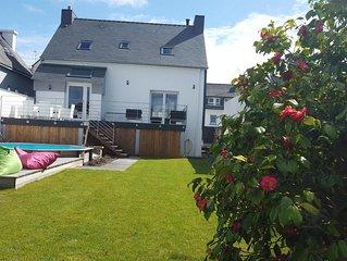 Maison individuelle 120m2 avec jardin plein sud, terrasses et piscine hors sol