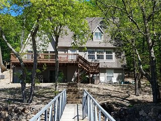 Lakefront home in Osage Beach at the 22 MM in a beautiful cove!