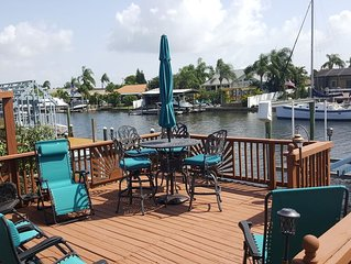 NEW!! The Flamingo - Waterfront Home with heated pool, hot tub and kayaks!