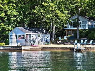Lakefront Cottage On Lake Winnipesaukee. On The Water!