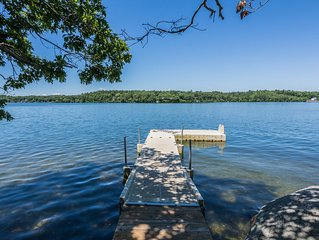 Modern Lakefront Vacation Home with Private Dock, Great Views, & Water Toys!