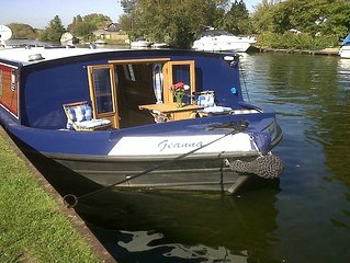 Luxury wide beam boat Henley-On-Thames, winner of 'Four In A Bed' Channel 4.