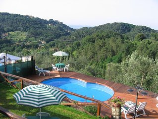 Casale in Toscana con piscina, giardino vasca idromassaggio a 15 minuti dal mare
