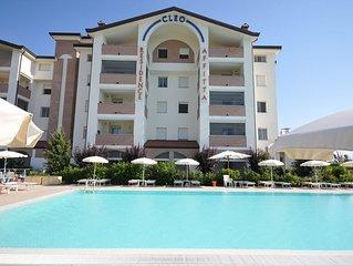 Appartamento per 5 persone in residence con piscina, area fitness e wellness.