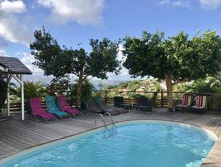 Villa de standing 4 chambres avec piscine et jacuzzi, au calme avec vue mer