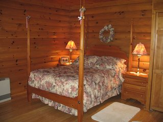 Beautiful log sided guest room on Owasco lake with private entrance and parking.