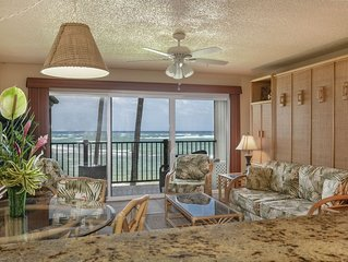 Oceanfront, Stunning View, Remodeled, 1 BR, A/C, Pono Kai C305
