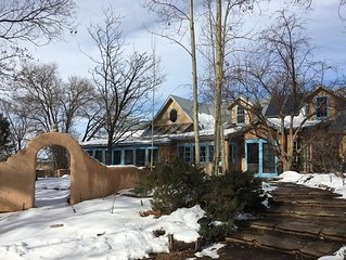 An Elegant Taos Adobe under the Trees- Ski Special!