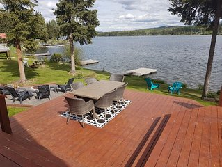 Beautiful modern house on Deka Lake with private dock and hot tub.