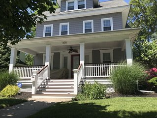 4 bed, park-side oasis-short walk to beach and bike ride to trendy Asbury Park