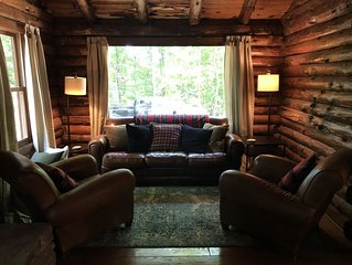 An upscale log cabin