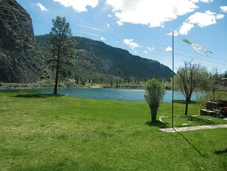 Tranquil lakefront retreat at Gallagher Lake offer optimum relaxation/family fun