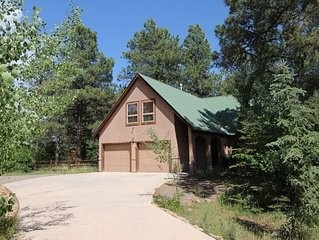 Large Family Friendly home in the trees with sauna & hot tub.