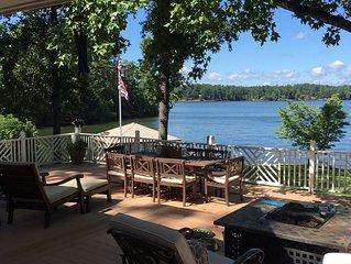 Stunning Lake House on Jackson Lake, huge deck, fantastic views, great sunsets