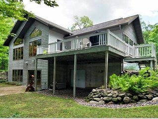 Fabulous Lake Home on Premier Lake in the Blue Hills, by skiing and snow trails