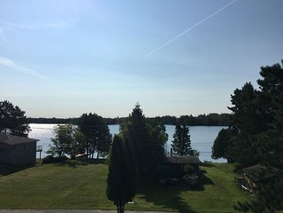 Balcony view overlooking beautiful Rheault Bay on Lake of the Woods.
