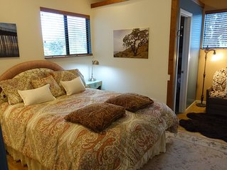 Beautiful country apartment in the heart of wine country and the CA coast.