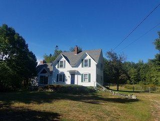 Beautiful family home in the quaint town of Brooklin, with upstairs ocean view