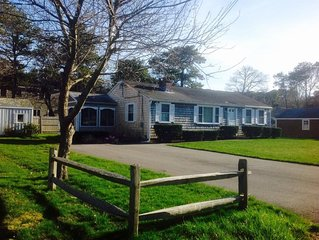 Great cape house with out door shower and walk to best beach in South Yarmouth!