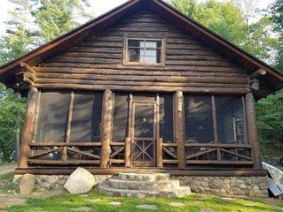 Lakefront Adirondack Log Cabin