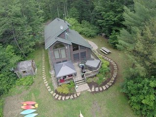 Waterfront Adirondack Chalet with Hot Tub, Sauna & Great Views of Whiteface