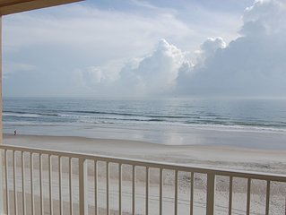 Ponce Inlet Oceanfront with Private Balcony, No-Drive Beach, Newly Renovated