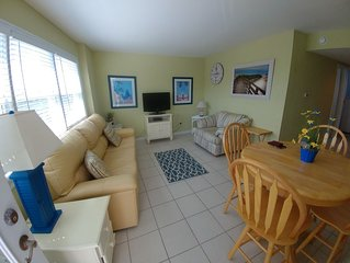 One block from beach! Clean 2 Bedroom Condo perfect for families!