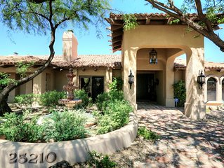 Very Private and Beautiful 3/3 hacienda resort style home in North Scottsdale
