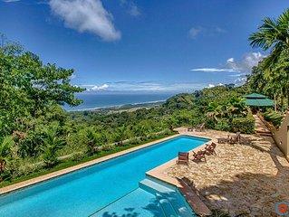 Villa Tres Colinas- Ocean Views, Pool, Close to Dominical Beach!!