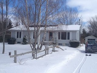 Treed 1/2 Acre Retreat minutes from the beach with famous Lake Huron sunsets!