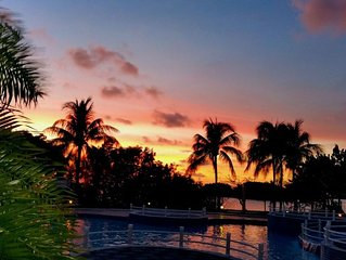 Ocean Front Luxury Condo  2 bd rm 2 bath, Ocean views from every window,  WIFI