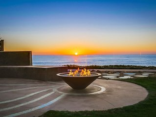 Oceanfront garden and views from every room in this modern rental!