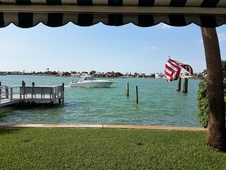 Waterfront Ground Floor Condo with Private Patio, Pool, Fishing & Mooring Docks!