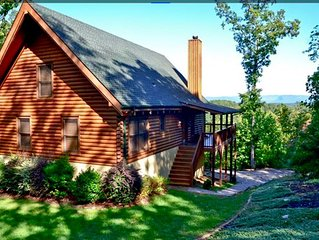 PRIVATE LOG CABIN WITH INCREDIBLE VIEW - ONLY 4 MILES TO LAKE JAMES
