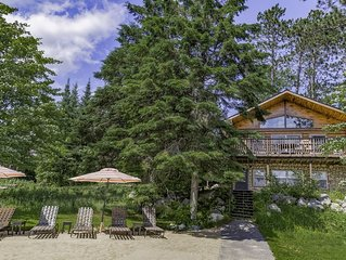 Lake Vermilion log cabin great for large groups and multiple families!
