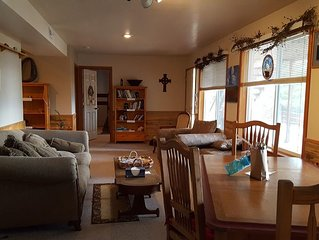 Nice Clean Suite 1 Block from Flathead Lake with full views of Lake/Mountains